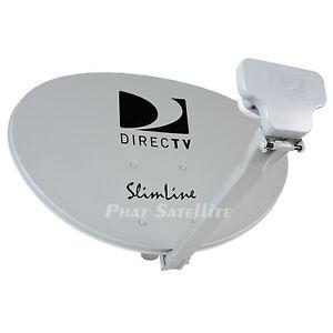 direct tv directv dtv slimline antenna swm3 swim 3 sl3s lnb 50ft coax cable ebay. Black Bedroom Furniture Sets. Home Design Ideas