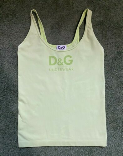 Vintage D&G Dolce And Gabbana Lime Green Stretchy