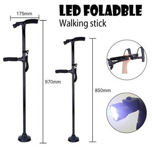 Walking-Stick-Travel-Poles-Cane-Folding-Protable-Adjustable-Aluminum-85-97CM