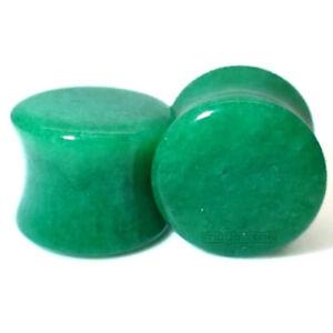 3MM-20MM-Stone-Ear-Plug-Green-Jade-Tunnel-Piercing-Orhstecker-Natural