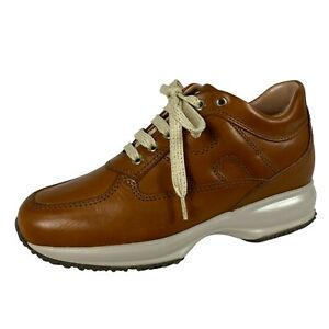 Details about E21 sneakers donna HOGAN INTERACTIVE brown shaded leather shoes women
