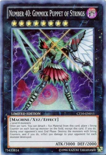 CT10-EN011 x3 Number 40: Gimmick Puppet of Strings Limited E... Super Rare