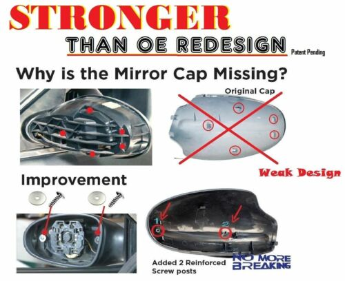 Left DRIVER SIDE MIRROR CAP COVER 02-06 For NISSAN ALTIMA NON PAINTED Gray B736