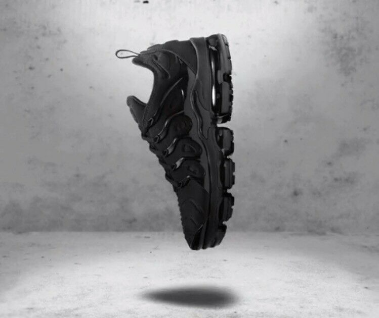 "purchase cheap 77c4c d7ede ... NIKE AIR VAPORMAX PLUS TUNED - ""TRIPLE BLACK"" BLACK"" BLACK"" - MENS ..."
