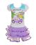 BEAUTEES KIDS GIRL PURPLE HOLLYWOOD GLITTER SPARKLE TUTU DRESS 2 3 4