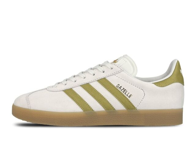revendeur ac70b 03ef5 adidas Gazelle Vintage White Gold Metallic Gum Trainers Shoes UK 5