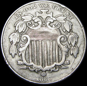 1869 Shield Nickel ---- TYPE COIN ---- #C763