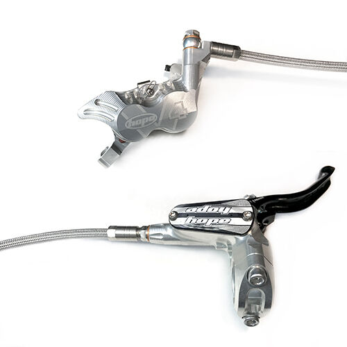 Brand New Hope Tech 3 V4 Silver Right Rear with Braided Hose Brake