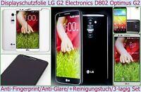 2 x Anti reflex fingerabdruck matt Display Schutz Folie LG G2 OPTIMUS D802 Handy
