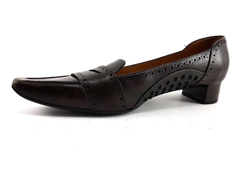 Tod'S Tod'S Tod'S Marrón Cuero Antideslizante en bombas, Med Tacones, Zapatos de mujer Talla EE. UU. 8 EU 38