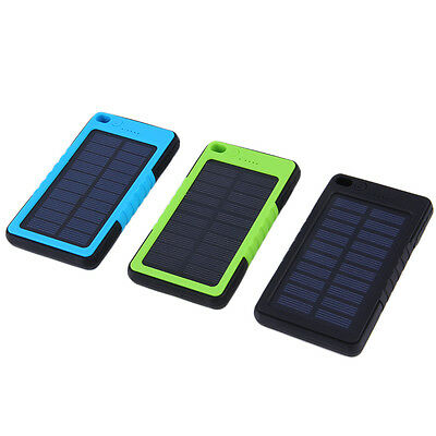 8000mAh Portable Waterproof Solar Power Bank Backup Battery Charge For Phone I5