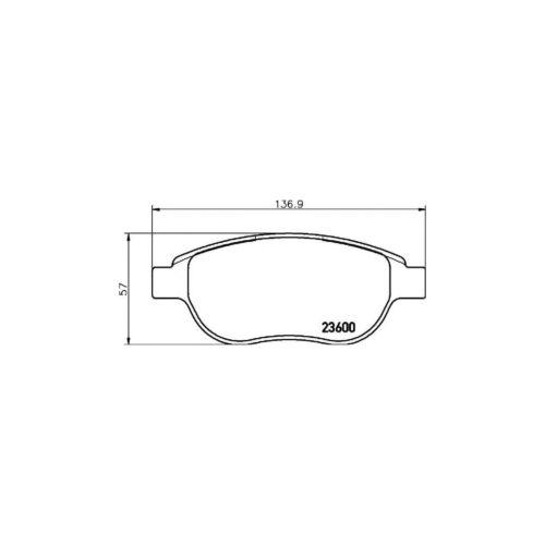 New Peugeot 207 1.4 16V Hatch Genuine Mintex Front Brake Disc /& Pad Set