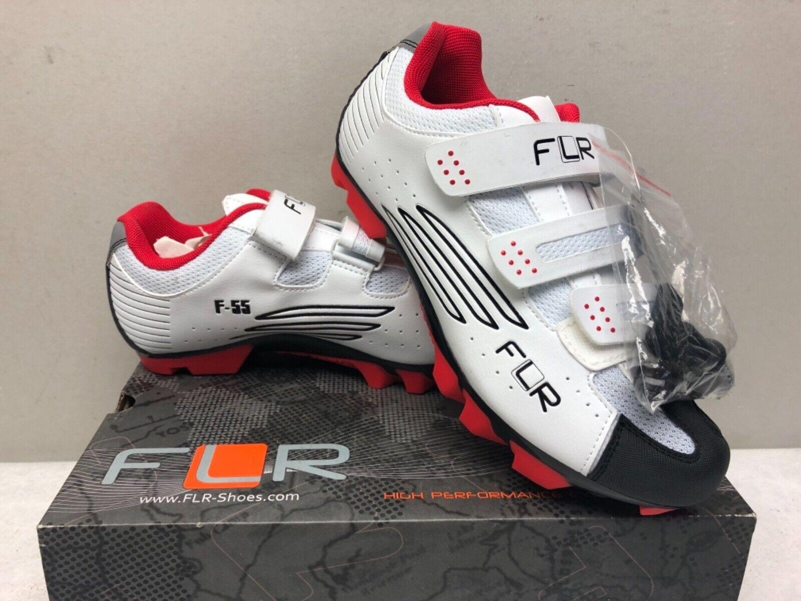 FLR F-55 II MTB Bike Cycling shoes in White (Size Eu 40) 2 Bolt System