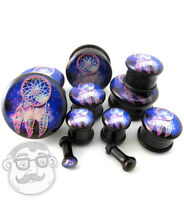 Pair Of Dreamcatcher Galaxy Plugs - Single Flare (6g - 1 Inch) Sizes / Gauges