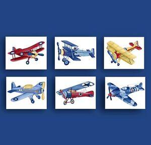 Image Is Loading Boy Airplane Nursery Art Vintage Print
