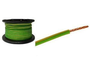 Wire  Wholesale | 100m X 6mm Green And Yellow Earth Cable Wire Electrical Wholesale