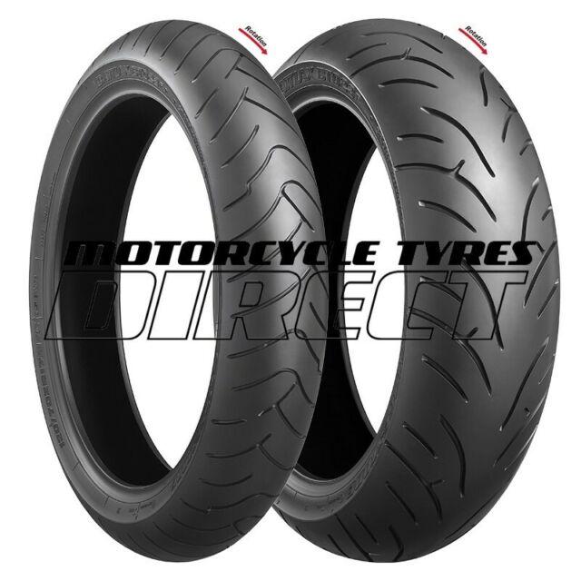 BRIDGESTONE BATTLAX BT023 PAIR 120/70-17 + 190/50-17 FREE POST MOTORCYCLE TYRES