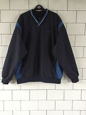 MENS VINTAGE RETRO RARE NAVY NIKE DRILL TOP SWEATER SWEATSHIRT OVERHEAD UK XL