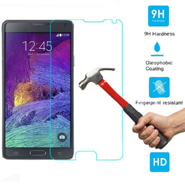 Premium Real Tempered Glass Screen Protector For Samsung Galaxy S4/5 Note 2 3 4
