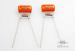 sets of 2 guitar volume treble bleed kit sprague 002uf cap 100k ohm resistor ebay. Black Bedroom Furniture Sets. Home Design Ideas