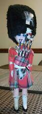 "Scottish Bag Pipe Player Doll 8.5"" Sleepy Eye Bearskin Cap Tartan Kilt Doll"