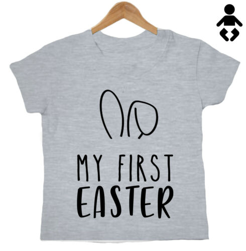 gift Funny T-Shirt milestone MY FIRST EASTER bunny ears 1st Baby // Childs