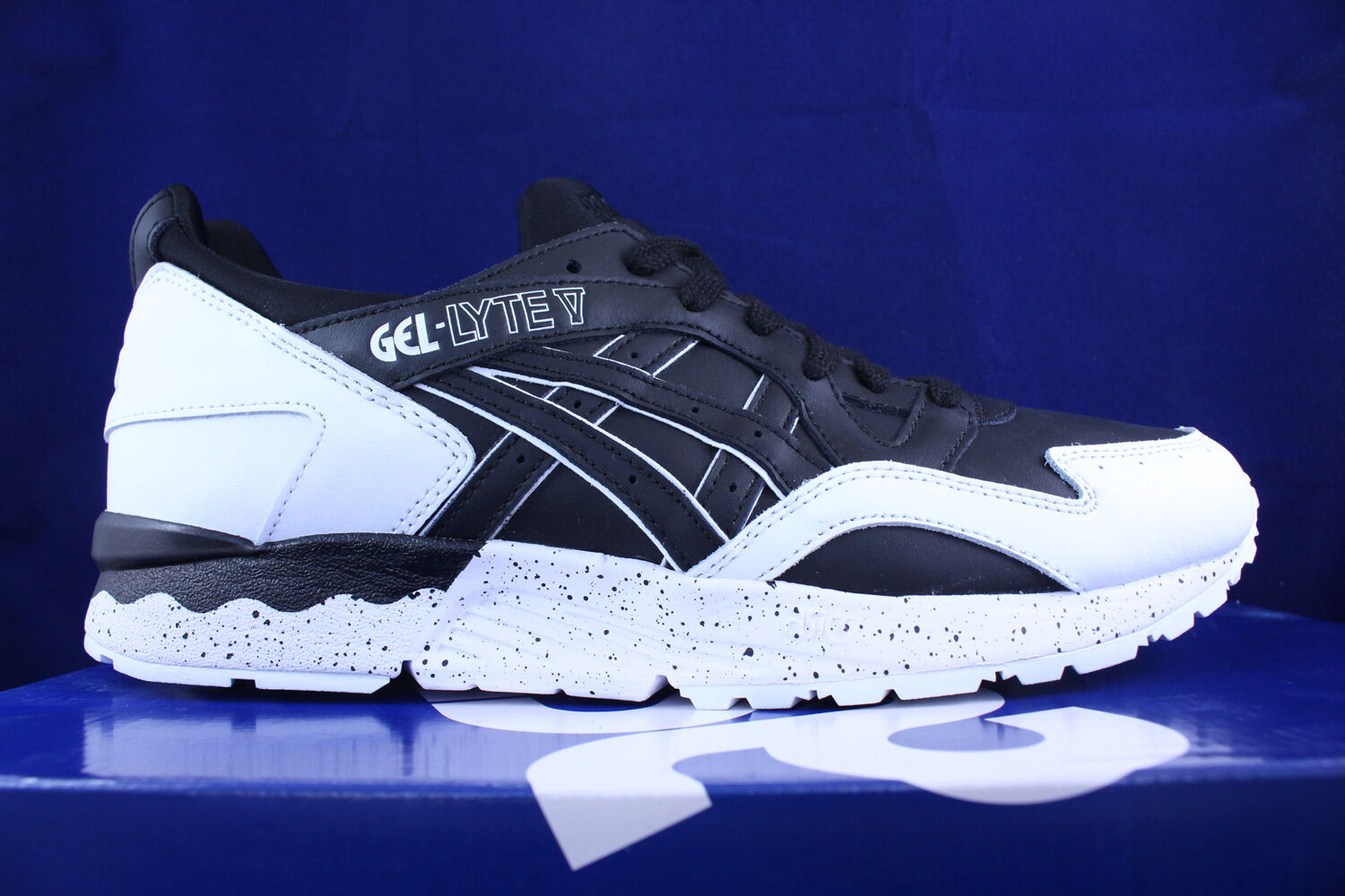 ASICS GEL LYTE V 5 BLACK WHITE SPECKLE SZ OREO PACK H6Q1L 9090 SZ SPECKLE 8.5 1a4eab