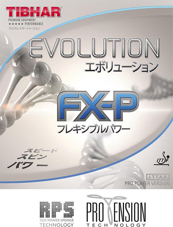 Tibhar Tischtennisbelag Evolution FX-P 1,9mm rot  NEU     OVP 7b2465