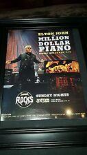 Elton John Million Dollar Piano AXS TV Rare Concert Promo Poster Ad Framed!