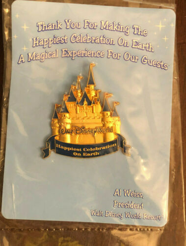 Walt Disney World Cinderella Castle Pin Happiest Celebration On Earth