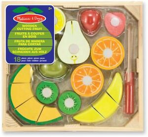 Melissa-amp-Doug-En-Bois-De-Coupe-Fruits-Bebe-Jouet-Kids-Pretend-Play-Food-Jouet-Cadeau-BN