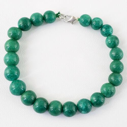 Meilleure Qualité 148.80 cts Earth mined riche vert émeraude perles rondes Bracelet