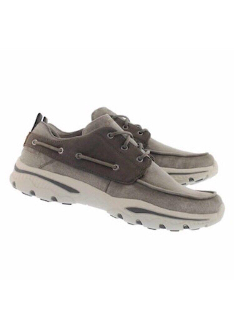 Skechers Men's 65347 TPE Creston-vosen Taupe Size 11
