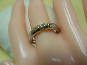 750er-dorado-950-platino-con-Brilliant-anillo-gran-peso-55-5-90-gramos