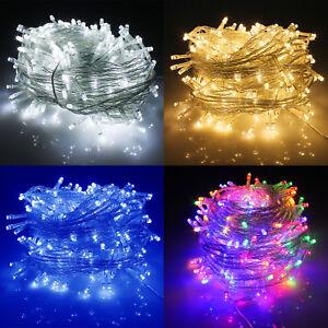 Led Lichterkette Weihnachten.100 Leds Außenlichterkette Wasserdicht Led Lichterkette Weihnachten