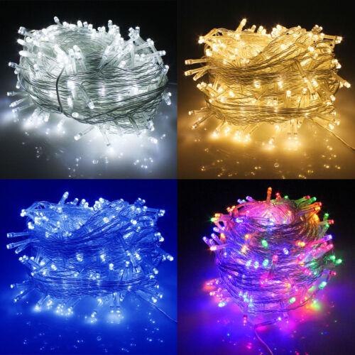 LED Lichterkette 10 Meter 8 Modi 100 LEDs verlängerbar Festbeleuchtung LP