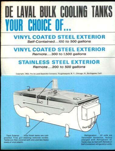1965 De Laval Dairy Milking Machine Vintage Brochure Bulk Milk Cooling Tanks
