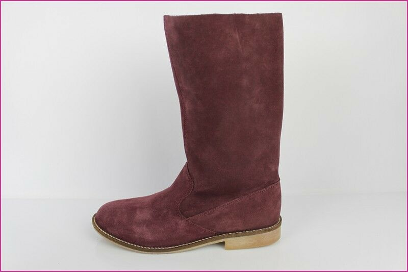 Boots 3 SUISSES COLLECTION COLLECTION COLLECTION Suede Plum T 40 TOP CONDITION 88bb78