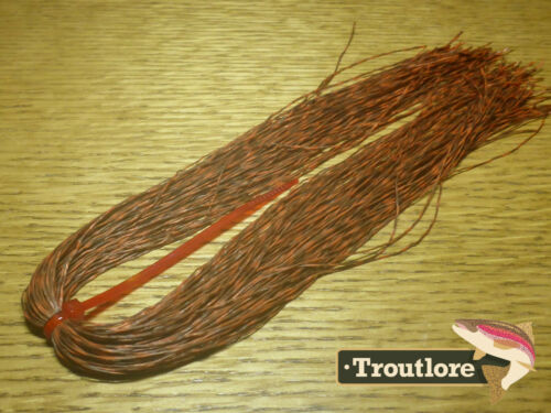 GRIZZLY BUG LEGS ORANGE NEW BARRED RUBBER LEG FLY TYING MATERIAL TROUTLORE