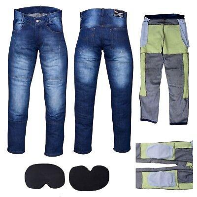 26 rinforzi in Kevlar A-Pro colore nero Jeans da moto con protezioni