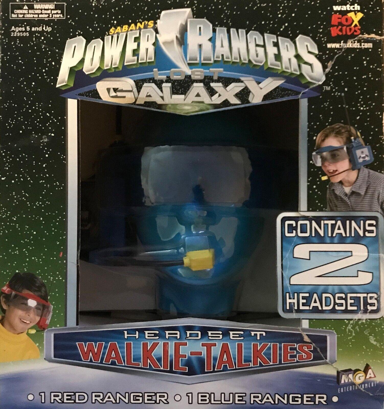 Power rangers verloren galaxie walkie - talkie kopfhörer - 1 rote ranger   1 blauen ranger