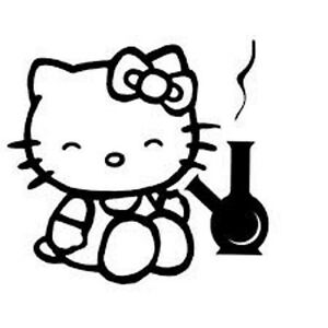 decal vinyl truck car sticker hello kitty stoned weed ebay Hello Kitty House image is loading decal vinyl truck car sticker hello kitty stoned