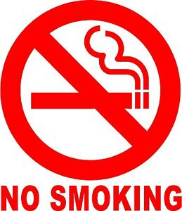 NO-SMOKING-Sign-Vinyl-Decal-Sticker-Circle-Door-Window-Wall-Inside-or-Outside