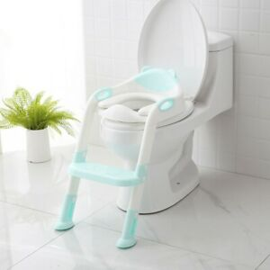 566d648c8 Baby Kids Potty Training Seat with Step Stool Ladder Child Toddler ...