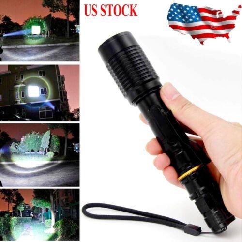 Tactical Aluminum Zoom 350000Lumens 5Modes T6 LED 18650 Flashlight  Torch US Lot