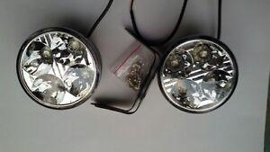 2-x-Blanco-12V-4-LED-DRL-Redondo-Luz-Diurna-Coche-Trasero-Niebla-Dia