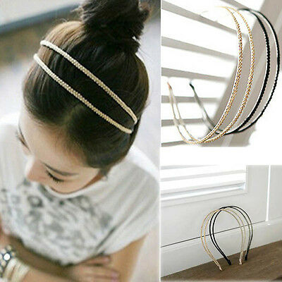 Fashion Metal Crystal Headband Head Piece Hair Band Jewelry for Women Girl Lady