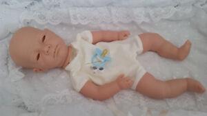 """Bébé Reborn-doll Kit """"anna"""" Avec Cousu En Membres + Yeux & Cils + Bleu Factice-afficher Le Titre D'origine Dj1egxcy-07172733-353522818"""
