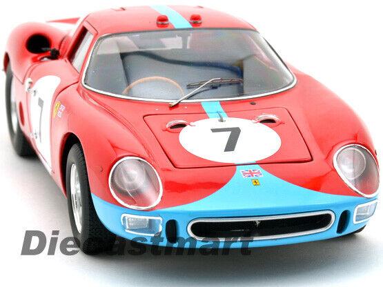 heißwheels 1 18 Elite Ferrari 250LM 12H Reim 1964 Rot  7