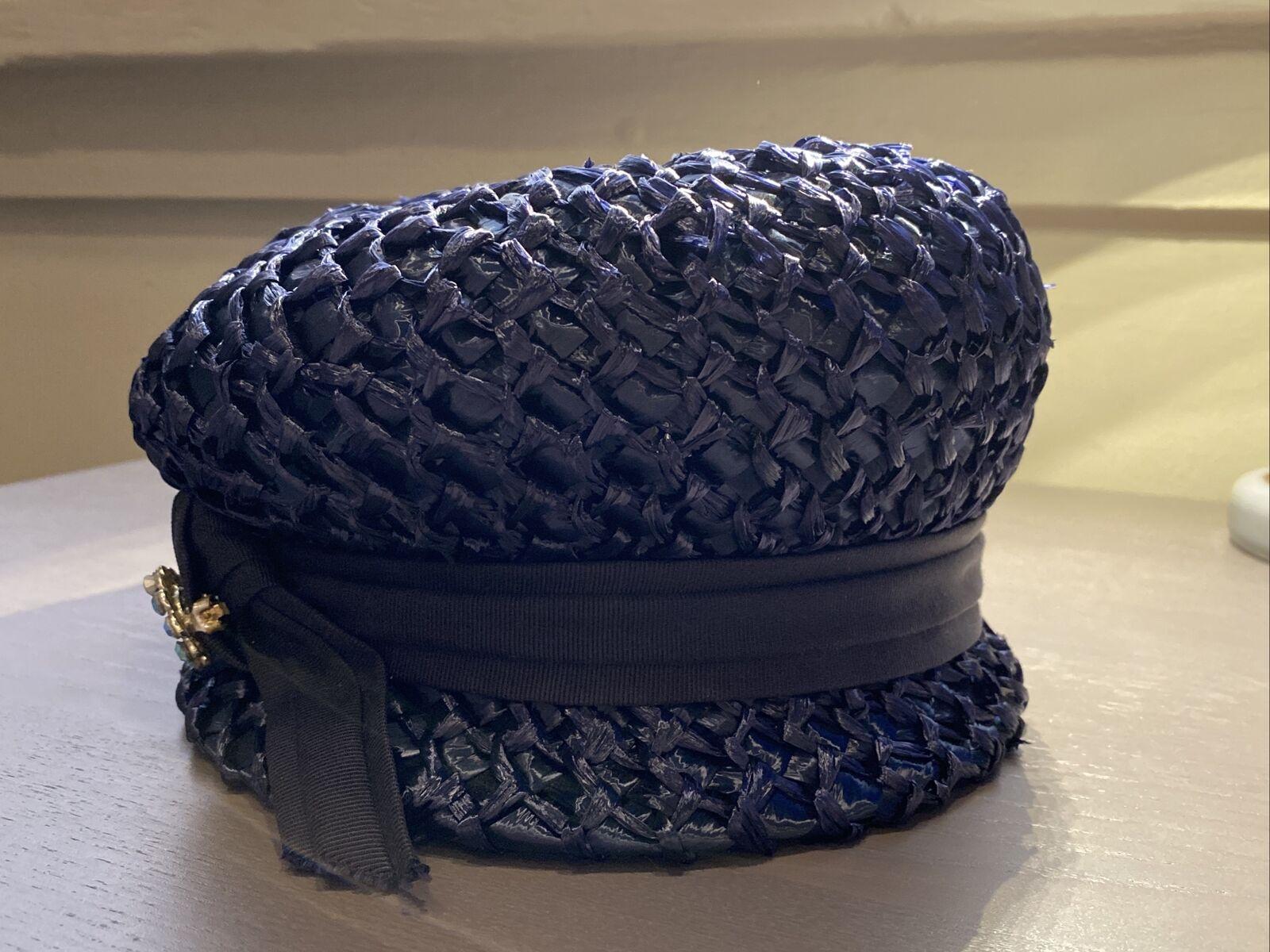An Original Lady Byrd Creation Blue Hat c.1960's - image 7